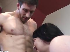 Mature woman sucking dick boyfriend