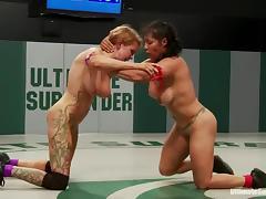 Izamar Gutierrez and Rain DeGrey have lesbian sex after a fight
