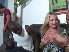 Nympho MILF Flower Tucci Gets Interracial Threesome In Front Of Son