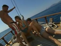 Rita Faltayano Threesome on Boat