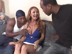 Sweet Janet Mason Gets Gangbanged Hard By Several Black Guys
