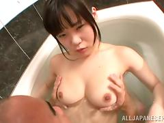 Superb Sayaka Aishiro loves getting banged in the shower