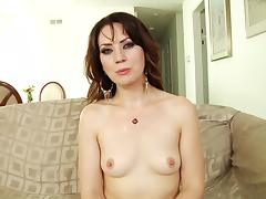 Horny babes are interviewed butt naked in compilation clip