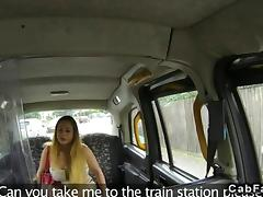 Hot Hungarian babe fucks in a British cab