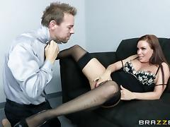 Diamond Foxxx is fucked silly by a guy with a large cock