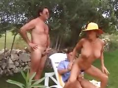 3er im Garten - Threesome in the Garden