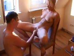 Blonde MILF fisted and fucked