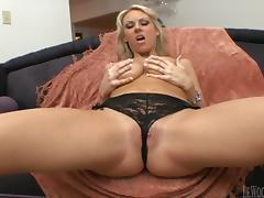 Mark Wood fucks blonde cutie Carolyn Reese's pussy to orgasm