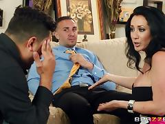 Jayden Jaymes moans with pleasure while riding a schlong