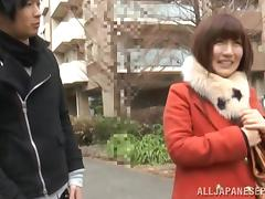 Japanese model is a hirny housewife getting a fucking