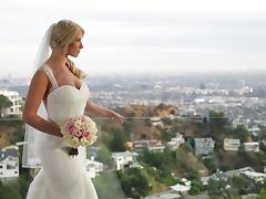 A MILF bride gets fucked hard in her dress on her wedding day